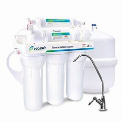Reverse osmosis 5 stage filter system mains supply  with chrome tap